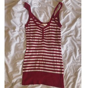 Red and white striped tank top 🩸🤍